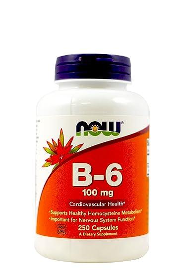 Znalezione obrazy dla zapytania vitamin B-6 now foods 250