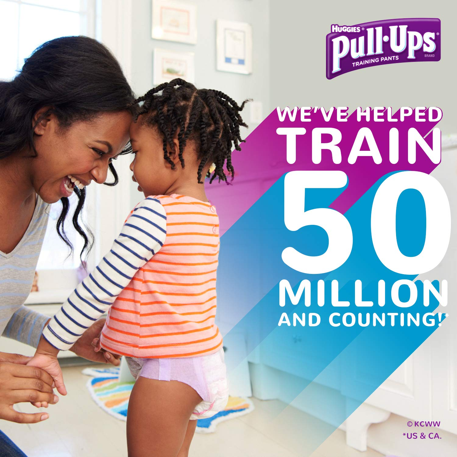 Pull-Ups Learning Designs for Girls Potty Training Pants, 12M-24M  (14-26 Pound), 112 Count (Packaging May Vary)