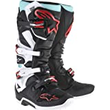 Alpinestars Tech 7 Boots-Cyan/Black/Red-11