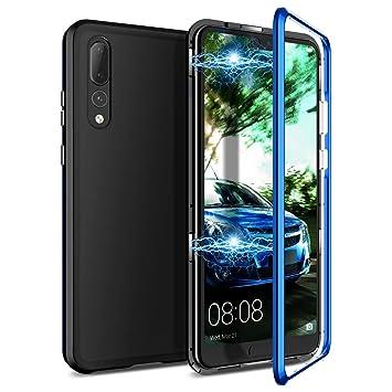 CE-Link Funda Huawei P20 Pro, Carcasa Fundas Magnética Cubierta de Trasera de Vidrio Templado Transparente 360 Grados Protección Case Protectora - ...