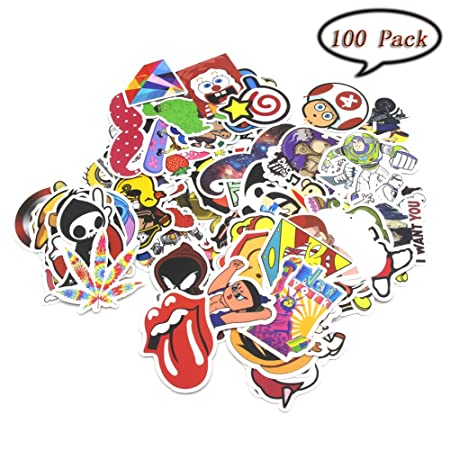 Sticker pack 100pcs variety vinyl car sticker motorcycle bicycle luggage decal skateboard stickers