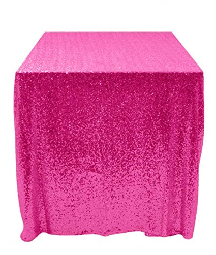 Charmant 6FT Table Sequin Tablecloth 60 X 120 Sequin Shimmer Hot Pink Table Cloth  Around The World