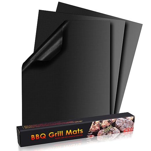 3 opinioni per POAO Set di 3 Stuoie Antiaderenti per Grill, Forno Liner, Cottura Mat,