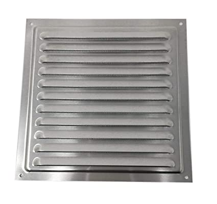 300 x 300 mm Grill Air Vent - Metal - Aluminium Rust Free with Mosquito /  Bug Net