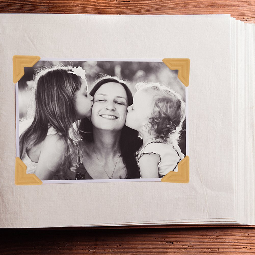 Photo Mounting Corners Stickers for DIY Scrapbook Picture and Album ANPHSIN 432 Count 18 Sheets Photo Corners Self Adhesive in 6 Colors