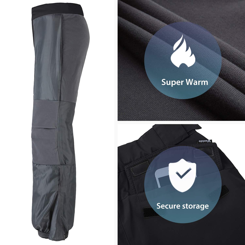 Wantdo Womens Waterproof Warm Padding Insulated Outdoors Snow Pants