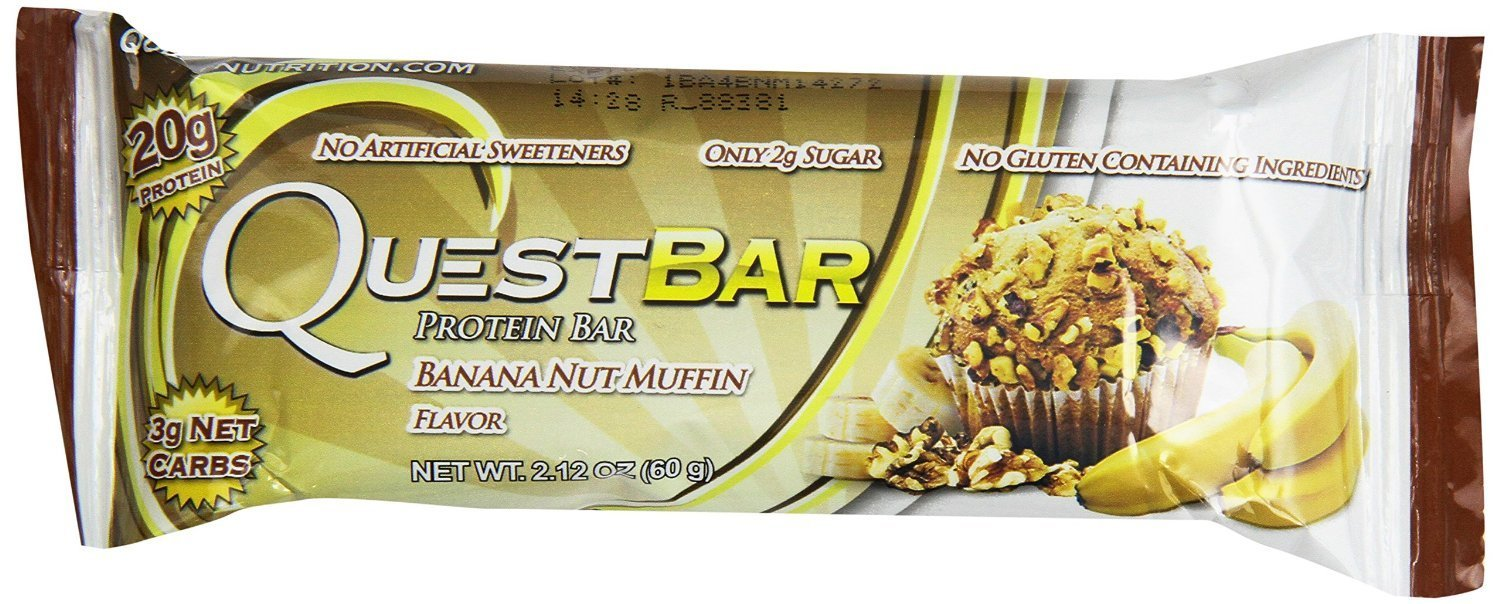 Quest Nutrition Natural Protein Bar, Banana Nut Muffin, 36 Bars Quest -