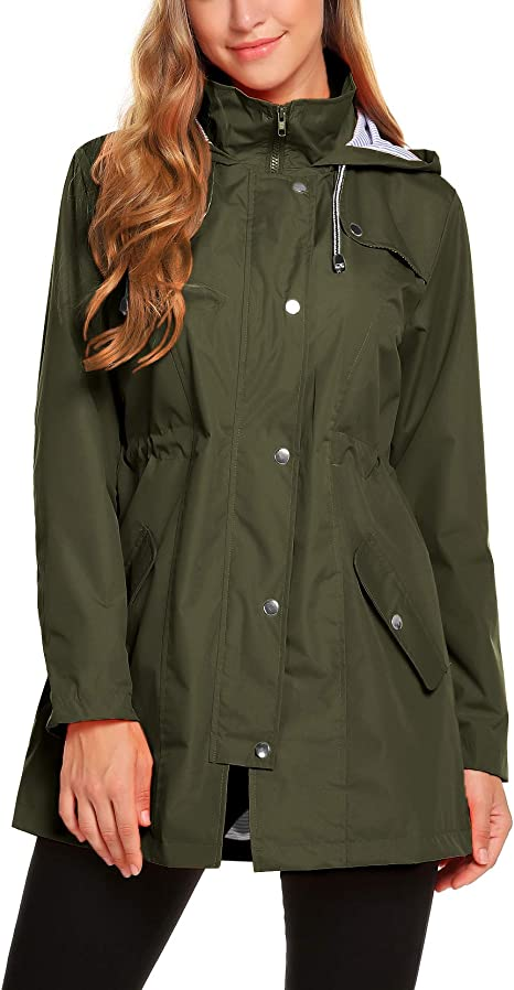 ZHENWEI Women's Active Outdoor Rain Jacket