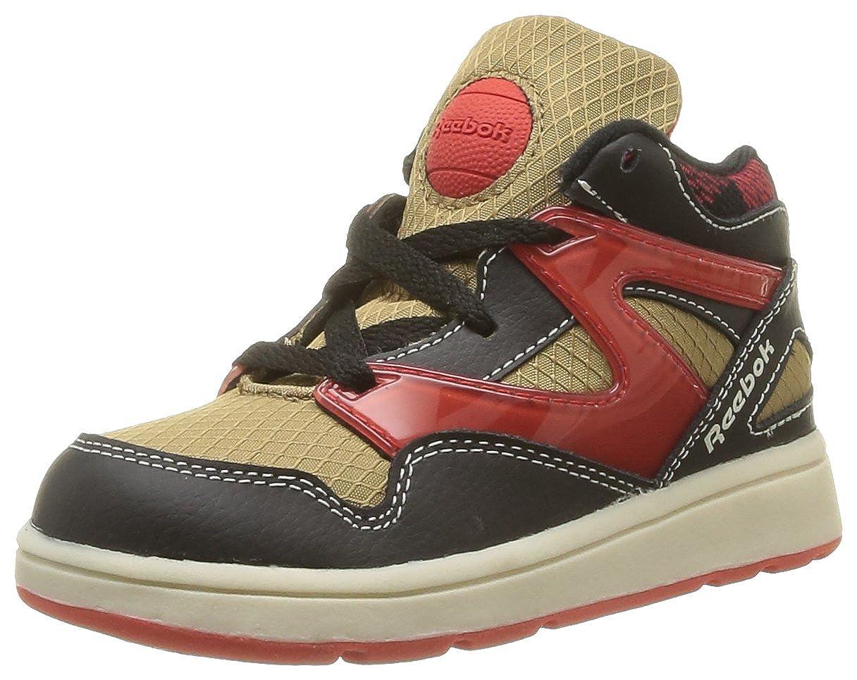 Reebok Versa Pump Omni Lite, Baskets mode mixte bébé Baskets mode mixte bébé - Marron (Tweed Brown/Black/Red/White) 21 EU V46698