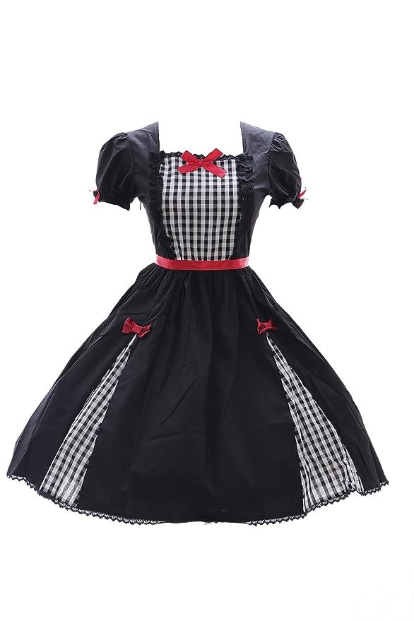 Kawaii Story JL 626 Karo schwarz Kleid Stretch Classic