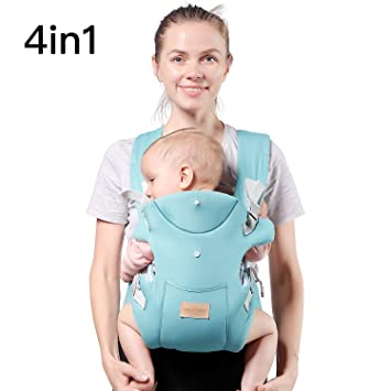 4051ffee706 TIANCAIYIDING Ergonomic Baby Carrier,Soft   Breathable Baby Carriers  Backpack Front and Back for Infants