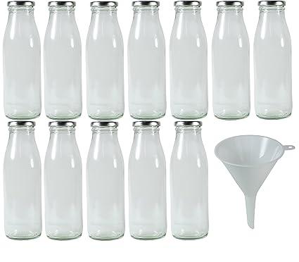 Viva-artículos de Uso doméstico - 12 SLK Cuello Ancho-Botellas de Vidrio 0