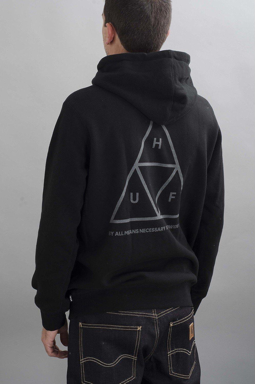 HUF - Sudadera Zip Hooded Triple Triángulo hombre - talla: one size Noir GREY large : Amazon.es: Ropa y accesorios
