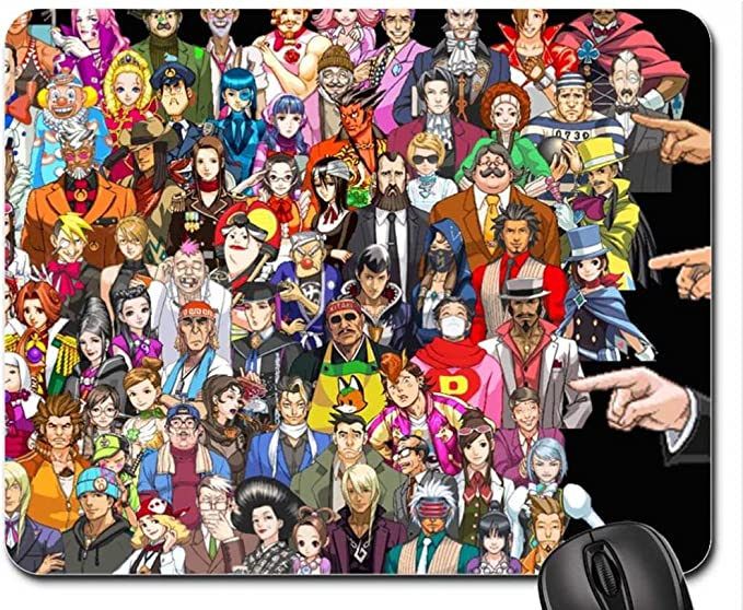 Ace Attorney Characters Mouse Pad Mousepad 10 2 X 8 3 X 0 12