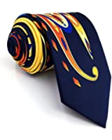 Shlax & Wing Mens Neckties Ties Printed Geometric Multicolo Silk New