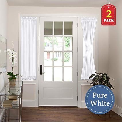 Amazon HVERSAILTEX White Curtains French Door Panel Curtains