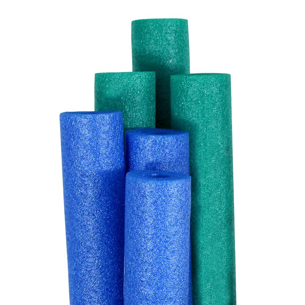 Pool Mate Premium Extra-Large Swimming Pool Noodles, Blue and Teal 6-Pack by Pool Mate