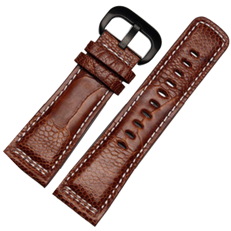 28 mm braun echtes Strauß Bein haut Uhrenarmband Band geeignet sevenfriday p1p2 m1 m2