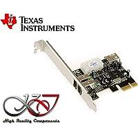 KALEA-INFORMATIQUE  - Carte Controleur PCIe PCI EXPRESS vers FireWire 400 IEEE1394a - 2+1 ports 6 points - CHIPSET TEXAS INSTRUMENTS