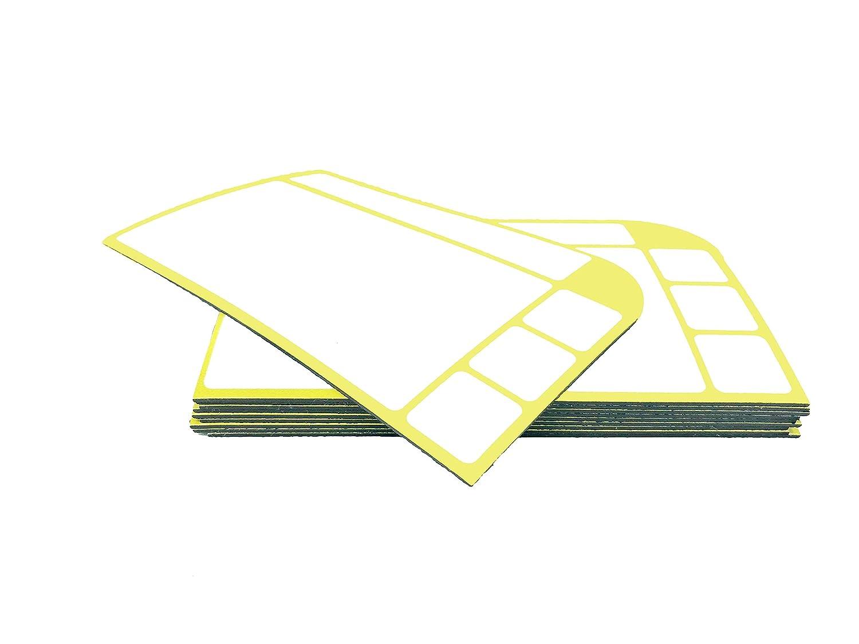 gelb 10/biglietti magnetici in 6/colori f/ÿr Scrum Board /& Co