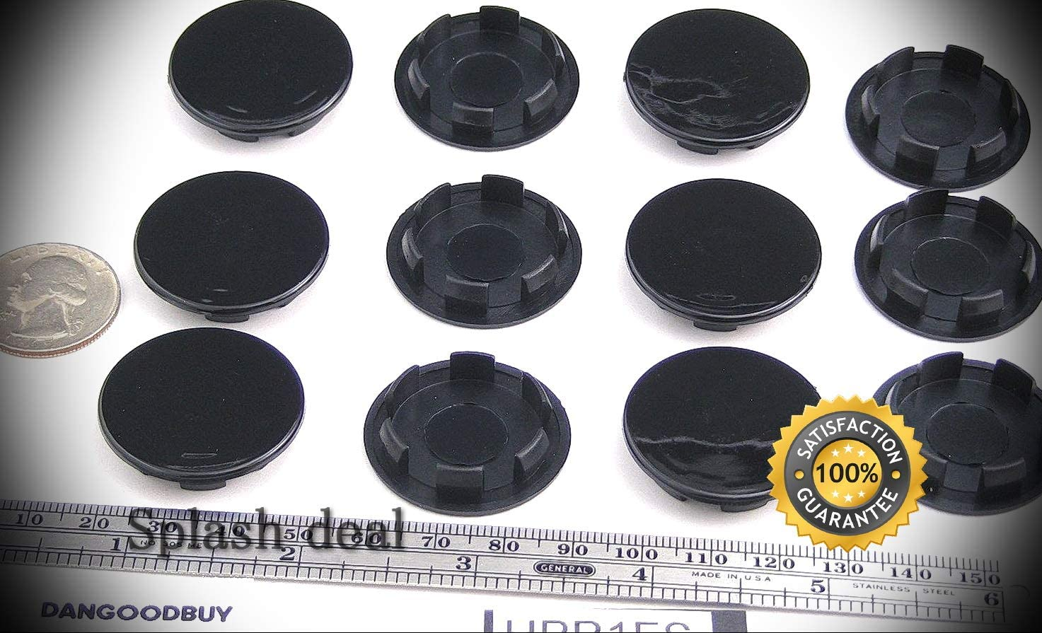 """50 per package 9//32"""" Rubber Hole Plugs Black  Dome Head Push In Hole Plug"""