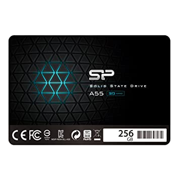 "Silicon Power 256GB SSD 3D NAND A55 SLC Cache Performance Boost SATA III 2.5"" 7mm (0.28"") Internal Solid State Drive (SP256GBSS3A55S25) Internal Solid State Drives at amazon"