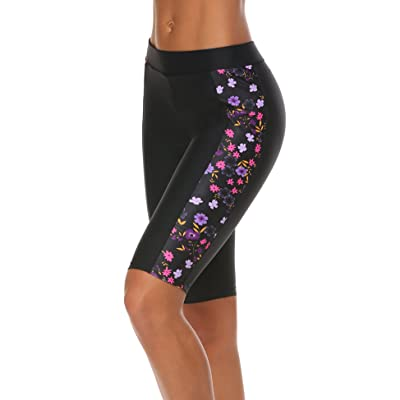 Ekouaer Women's Swim Capris UV Board Shorts Rash Guard Swimsuit Pants Swimwear S-XXL at Women's Clothing store