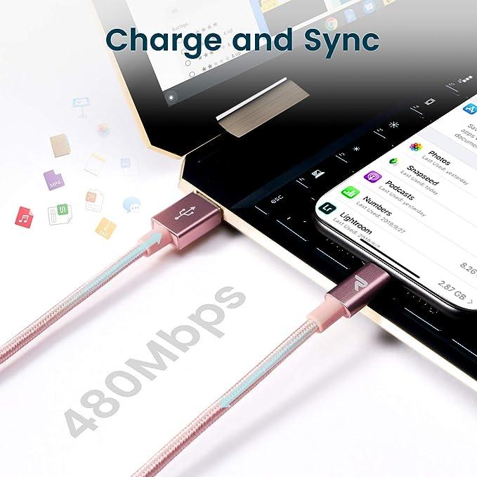 1M//Lot de 2 Argent RAVIAD C/âble iPhone Chargeur iPhone C/âble Lightning Nylon Tress/é Charge Rapide Compatible avec iPhone 11//11 Pro//X//XS//XR// 8//8 Plus// 7//7 Plus// 6s// 6s Plus// 6//6 Plus//Se// 5s