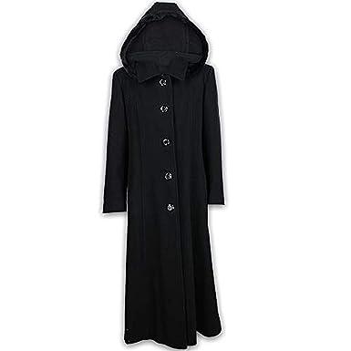 Manteau Femme En Melange De Laine Cashmere Avec Capuche Borde De
