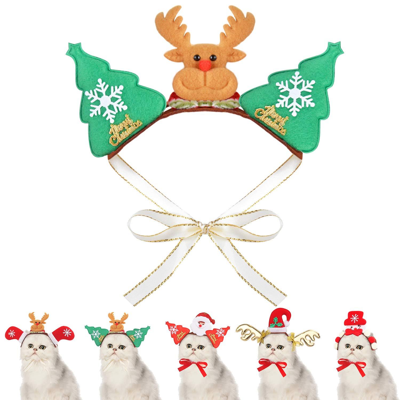 Fansport Christmas Pet Costume Creative Pet Headband Pet Hair Hoop for Puppies Kittens