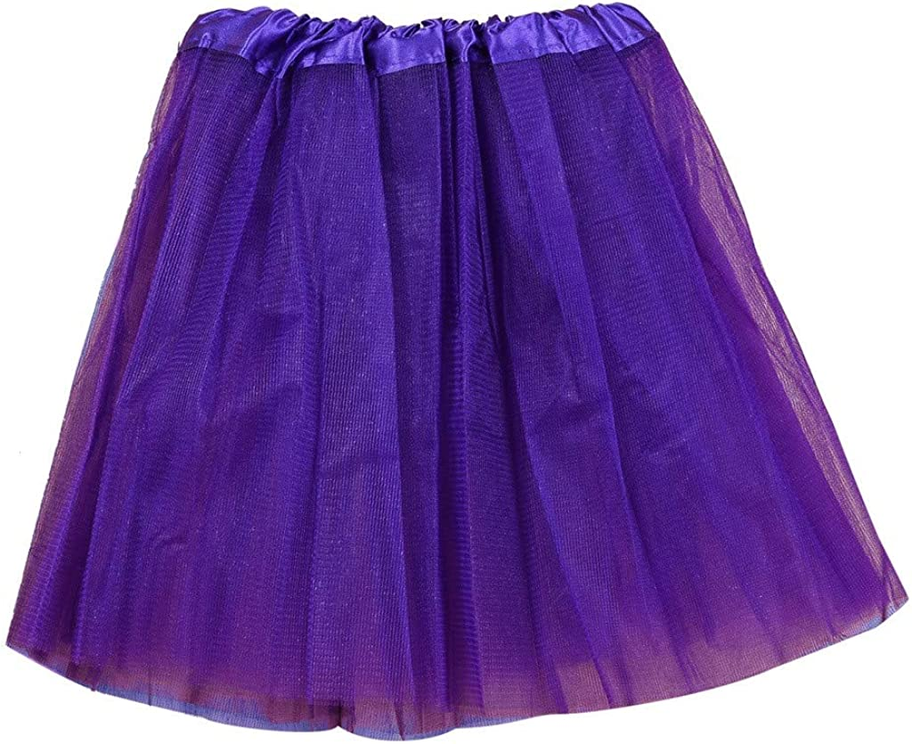 2-8 Years Kids Girls Fashion Solid 3 Layers Fancy Ballet Princess Elastic Tulle Tutu Skirt Show Costume Charm Clothes MORCHAN Tutu Skirts