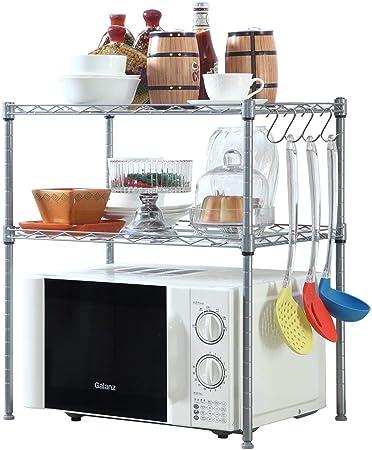 Amazon.com: HOMFA - Estantería para horno de microondas, 2 ...