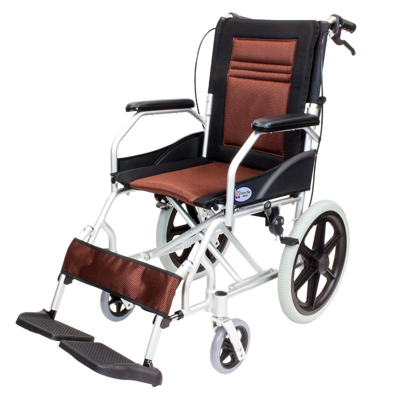 ケアテックジャパン 介助式車椅子 CA-22SU ハピネスライト -介助式- (ブラウン) B01NAYHC7Q ブラウン ブラウン