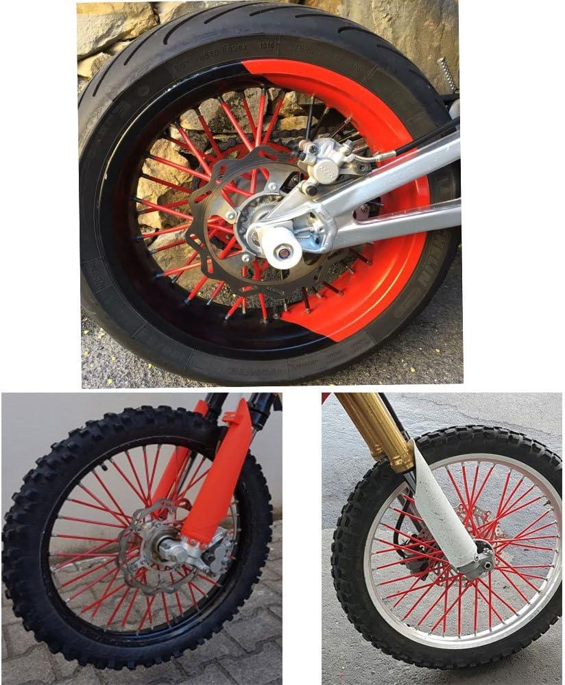 75pcs Spoke Skins revestimiento de radios Para bicicleta /& F650-1200GS G651X XR CRF TTR YZ WR XT TW DT PW RT XCF EXCR SXF SXR XCW SX Naranja