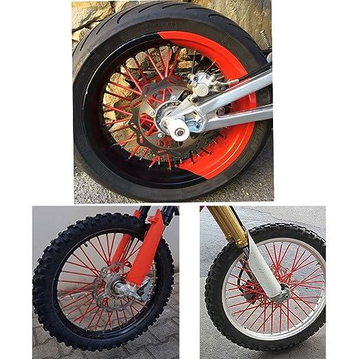 Bleu 75pcs Spoke Skins Rayons Housse for Bicycle Dirt Bike BMW F650-1200GS G650X KTM 125-690CC EXC-F SXF XC-W SMC-R ADV YAMAHA YZF XTR TDR 125-450CC Honda 125-611CC CRF MT XR SUZUKI