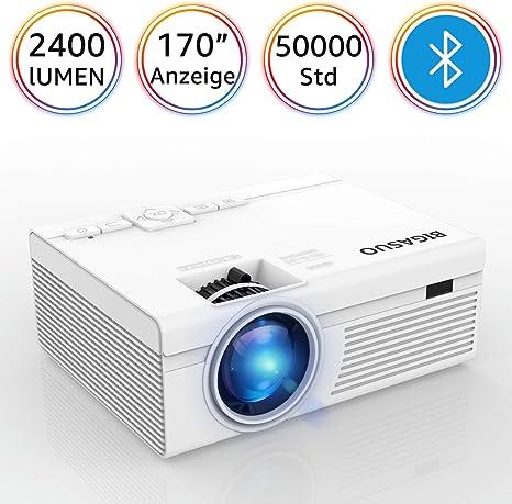 Biga SUO Bluetooth Proyectores, LED 2400 lúmenes Mini HD Proyector ...