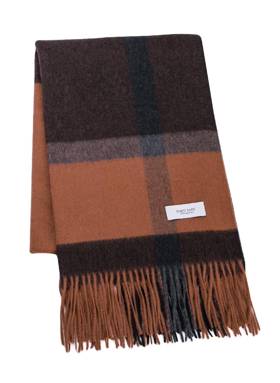 Brown X Black 100% Cashmere Plaid Shawl Stole Men Gift Scarves Wrap Blanket B1324B1-13