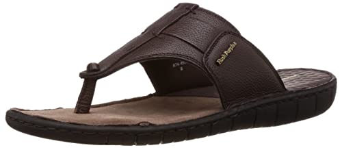 d5defcac1d10 Hush Puppies Men s Sedan Thong Brown Leather Flip Flops Thong Sandals - 7  UK India