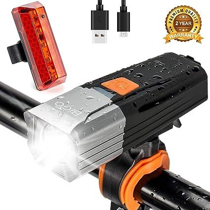 Bicyclette etc Lampe Velo Imperm/éable Rechargeable USB VTC Feu Arri/ère Eclairage V/élo Ultra-Puissant pour Cyclysme VTT TriLance Lumi/ère V/élo Arri/ère LED Puissante Etanche 4 Modes