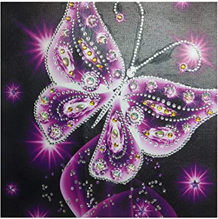 Full Drill Diamond Painting DIY Wall Art Decor Cross Stitch Kit Crystals 5D Diamond Painting Rhinestone Pictures Embroidery Arts Home Decor C Staron Butterfly 5D Diamond Painting