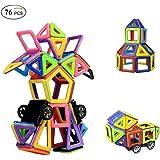 Blocs Construction Magnétique, Ausear Mini Blocs de Construction Magnétiques Jouet éducatif et construction créative pour enfants (76 Pièces)