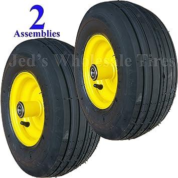 Protac nueva dos 13 x 5.00 - 6 13/500 - 6 Riding mower conjuntos llantas neumáticos ruedas para John Deere: Amazon.es: Jardín