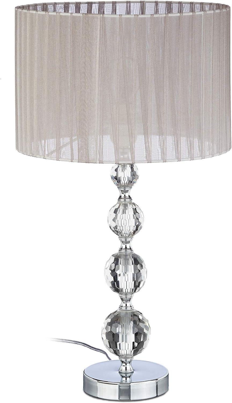 Relaxdays Lámpara de Mesa, Diseño Original con Bolas, Tulipa ...