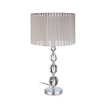 Chevet 5x29 Jour De Voile 5 Lampe CmClaireargent Abat Tissu Verre Cristal Nuit Boules Hxlxp41x29 Relaxdays 3jLRcq54A