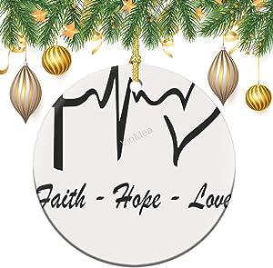 VinMea Round Ceramic Ornament, Jesus is My Superhero of Lord Tree Decoration Gifts Keepsake