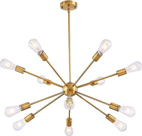 12 Lights Sputnik Chandelier