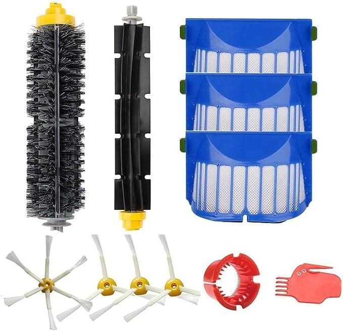 Amoy Kit de cepillos y filtros para iRobot Roomba 600 Serie 650 ...