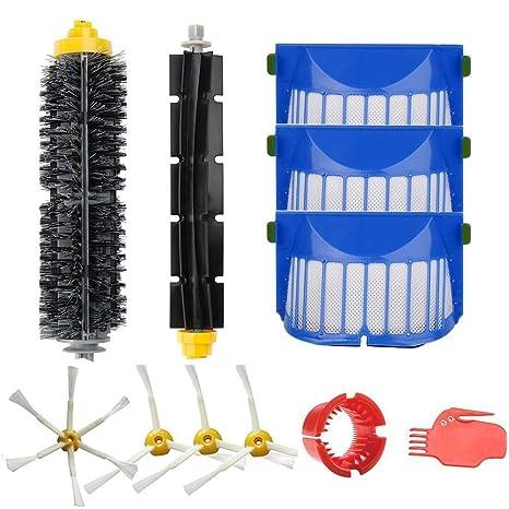 Amoy Kit de cepillos y filtros para iRobot Roomba 600 Serie 650 6530 620 615 605