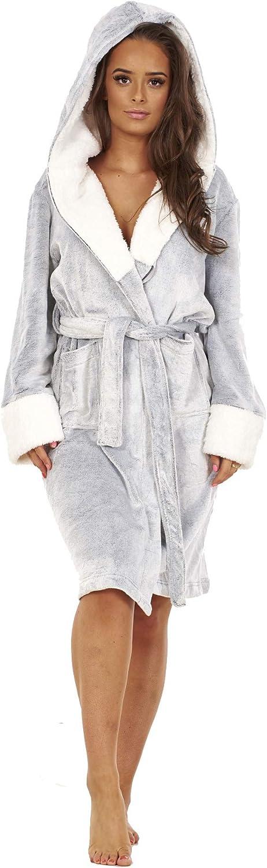 Keanu Ladies Sherpa Lined Shimmer Fleece Gowns