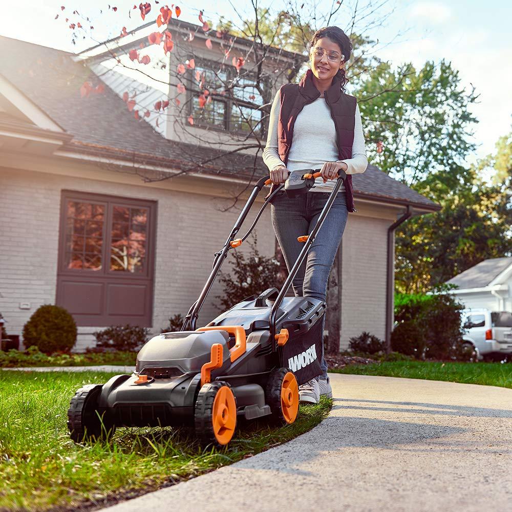 WORX WG958 14-inch 40V (4.0AH) WG779 Cordless Lawn Mower